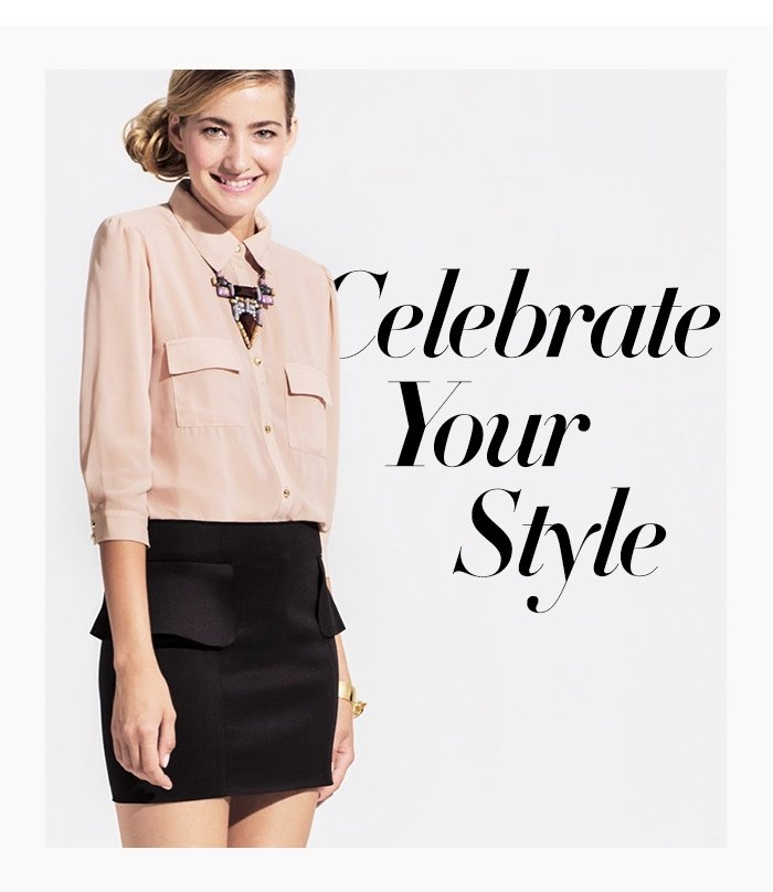 Celebrate Your Style - Shop Lookbook