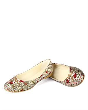 Maria Juliana Floral Flats Made In Europe