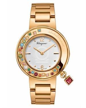 Salvatore Ferragamo Multicolor Topaz Women's Watch- Made In Switzerland