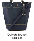 Ostrich Bucket Bag