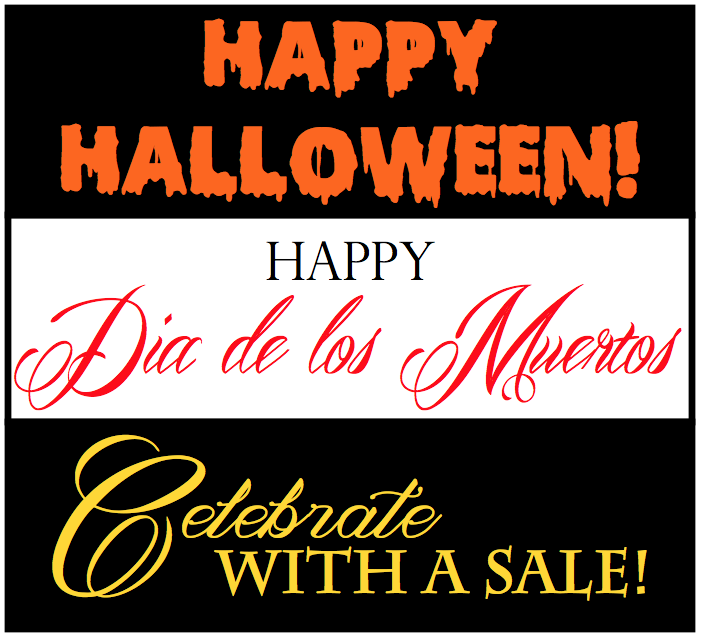 Halloween and Dia de los Muertos skull jewelry sale!!