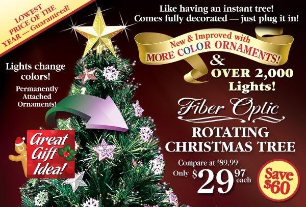 Rotating Christmas Tree $29.97 each