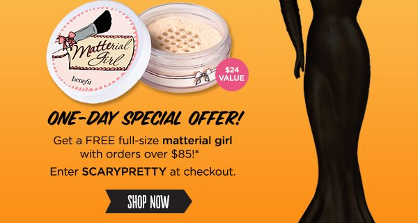 Scary-pretty offer - One day only!