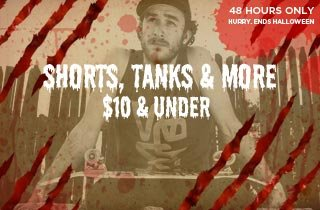 Shorts, Tanks, & More $10 & Under