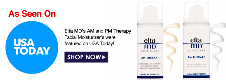 As Seen On USA TODAY! Elta MD's AM and PM Therapy Facial Moisturizer's were featured on USA Today!  Shop Now>>
