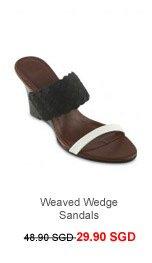 M)PHOSIS Weaved Wedge Sandals