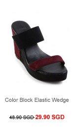M)PHOSIS Color Block Elastic Wedge