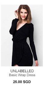 UNLABELLED Basic Wrap Dress