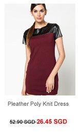 M)PHOSIS Pleather Poly Knit Dress
