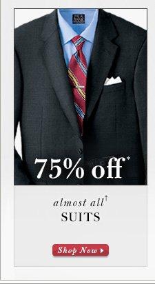 Suits - 75% Off*