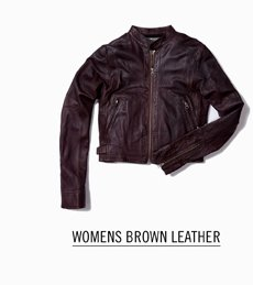 Womens Brown Leather