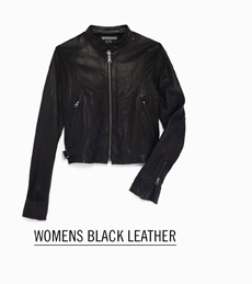 Womens Black Leather