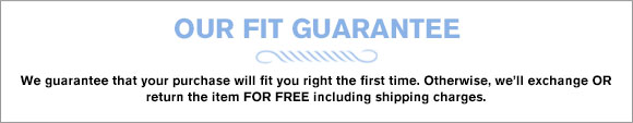 Our Fit Guarantee