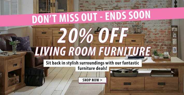 Dont miss out - 20% off living room now