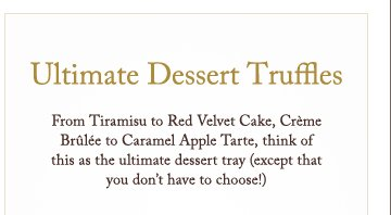 Ultimate Dessert Truffles