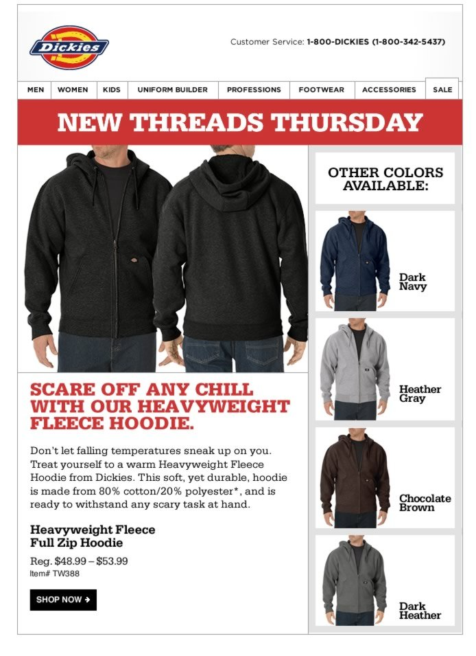 New Threads Thursday: Our Heavyweight Fleece can Scare Off any Chill
