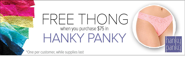 Free Thong From Hanky Panky with Purchase - See Details