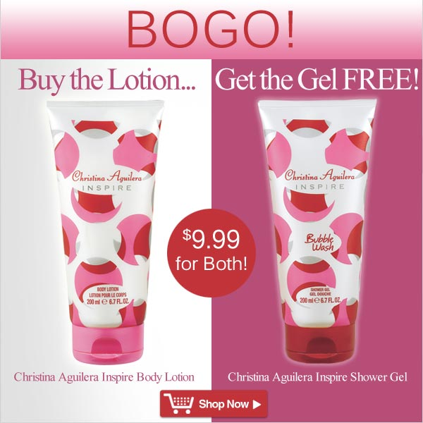 Christina Aguilera Inspire Body Lotion - BOGO! Buy the Lotion, Get the Gel FREE! - Shop Now >>