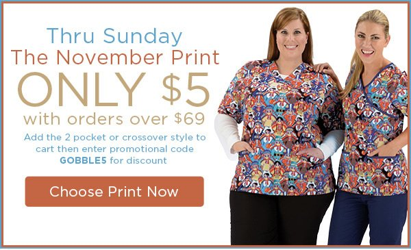 Gobble Wobble Prints on $5 with Orders Over $69 - Shop Now