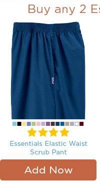 Essentials Elastic Waist Scrub Pant - Add Now