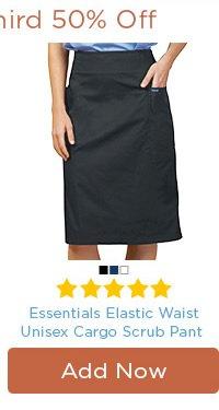 Essentials Flat Front Cargo Pocket Scrub Skirt - Add Now