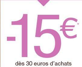 -15 euros* dès 30 euros d'achats