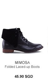 MIMOSA Folded Laced-up Boots