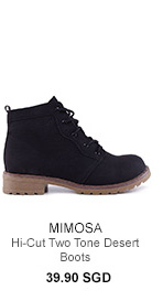 MIMOSA Hi-Cut Two Tone Desert Boots