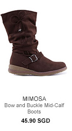 MIMOSA Bow and Buckle Mid-Calf Boots