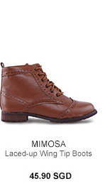 MIMOSA Laced-up Wing Tip Boots
