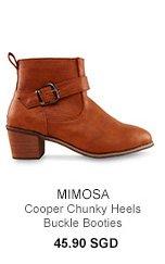 MIMOSA Cooper Chunky Heels Buckle Booties
