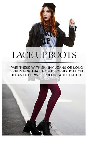 Laced up boot