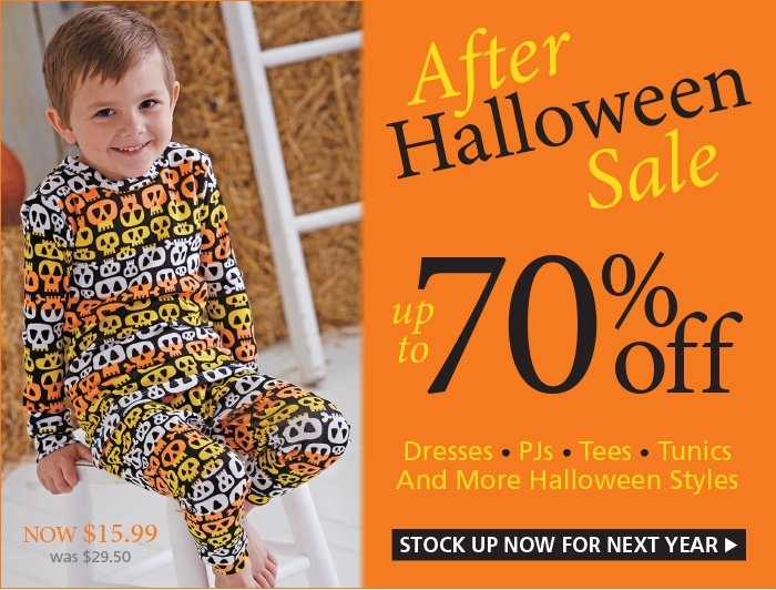 Save up to 70% with our Halloween Clearance Sale.