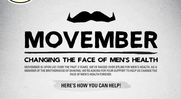 Movember - Changing the Face of Mens Health