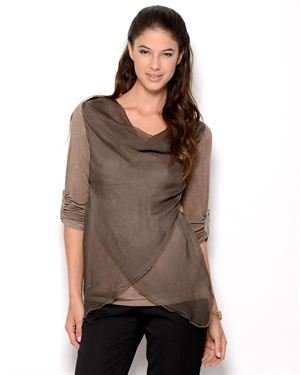 New Collection Asymmetrical Blouse - Made in Italy