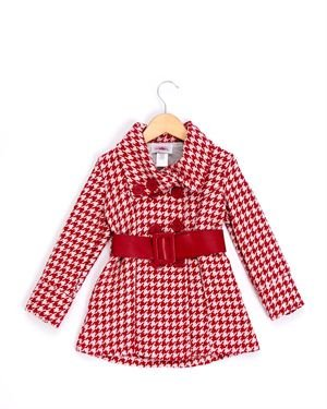 Citlalis Girls' Houndstooth Double Breasted Coat - Made in USA