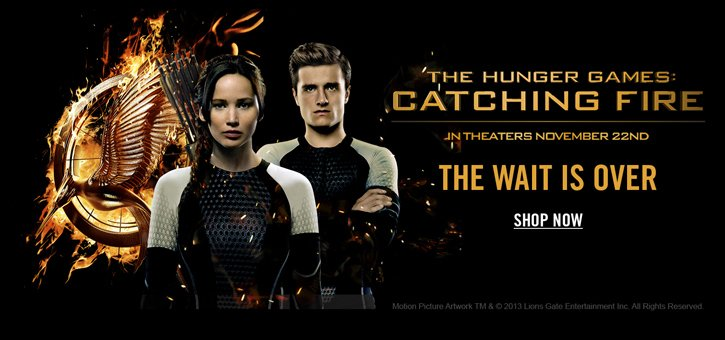 THE HUNGER GAMES - SHOP NOW