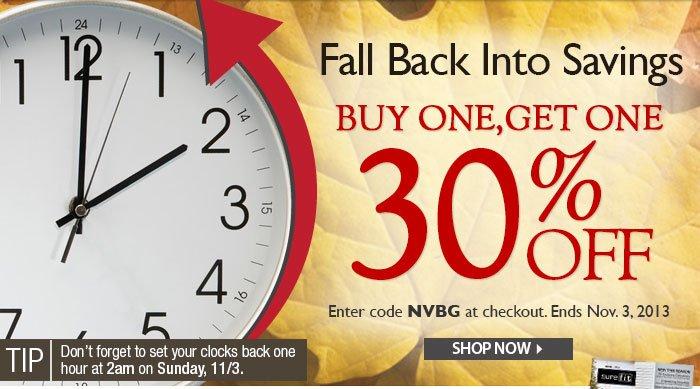 Fall Back into Savings