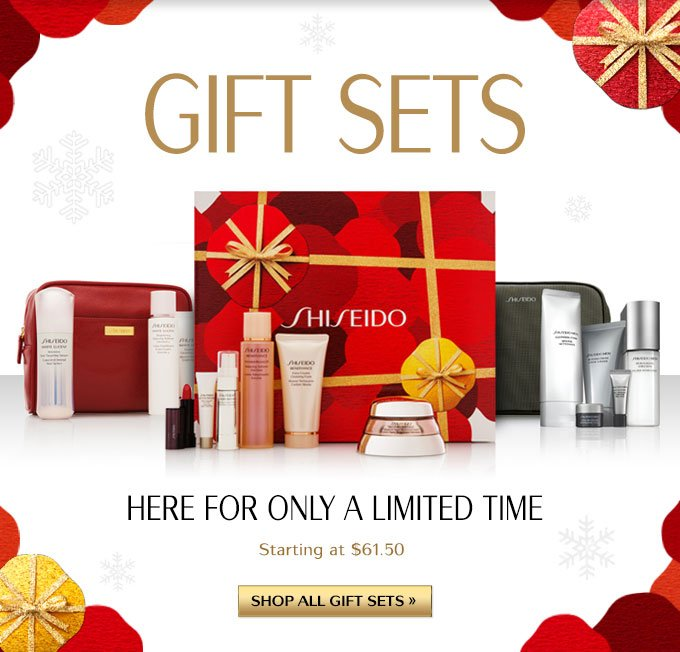 GIFT SETS | HERE FOR ONLY A LIMITED TIME | STARTING AT $61.50 | SHOP ALL GIFT SETS »