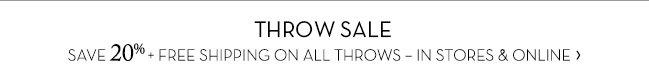 THROW SALE