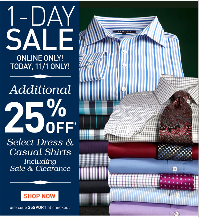 Shop Select Casual and Dress Shirts