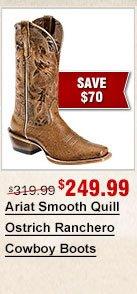 Ariat Full Quill Ostrich Boots