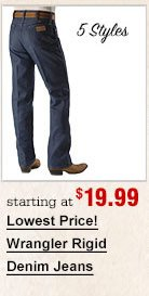 Lowest Priced Wrangler Jeans