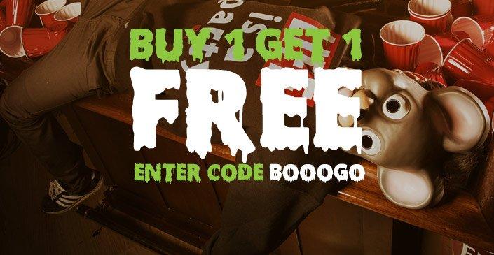 HALLOWEEN HANGOVER: Buy 1, Get 1 Free