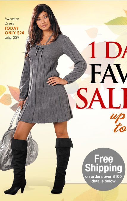 Sweater Dress - originally $39, TODAY ONLY price just $24!