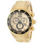 Invicta 14204 Men's Lupah Gold Dial Gold Tone Steel Bracelet Chrono Date Watch