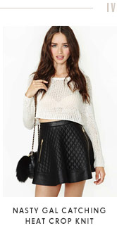 Nasty Gal Catching Heat Crop Knit