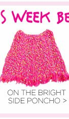 Shop On the Bright Side Poncho