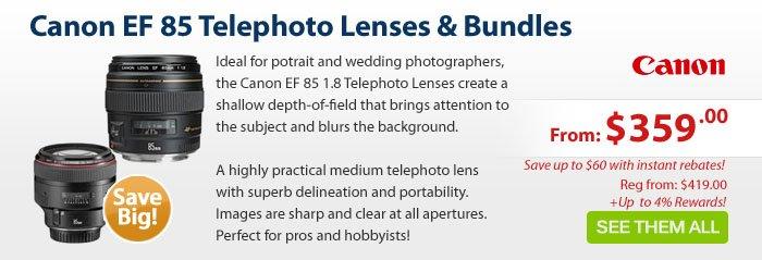 Adorama - Canon EF 85 Telephoto Lenses & Bundles