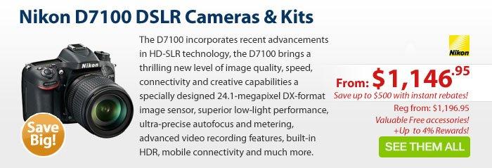 Adorama - Nikon D7100 DSLR Cameras & Kits